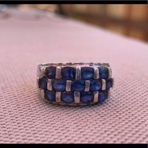 Jewelry - Multi stone Tanzanite Sterling Ring